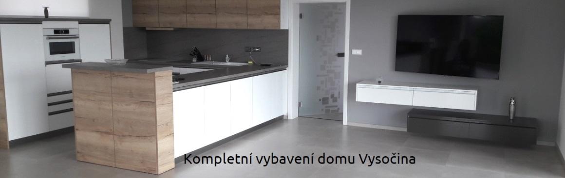 Komplení vybvení domu nábytkem Vysočina