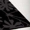 VND - sklo černé barvy s květinovým vzorem